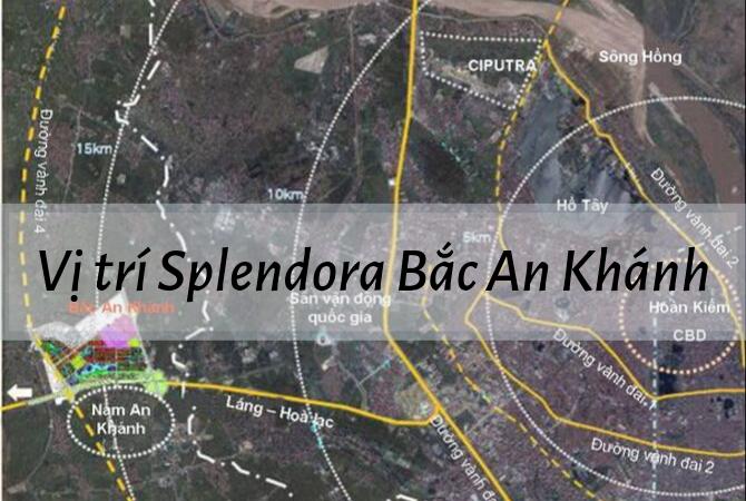 Vị trí – Quy hoạch KĐT  Splendora Bắc An Khánh: Cách đại lộ Thăng Long chưa đầy 1km